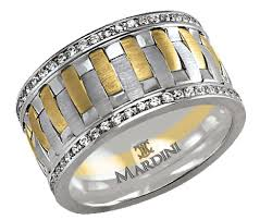 malo wedding bands malo mardini two tone satin finish white gold and yellow gold