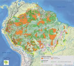 Amazon Basin Map Protected Areas Students For The Living Amazon