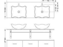 Bathroom Vanity Standard Depth Bathroom Amazing Vanity Height For Vessel Sink Standard Depth