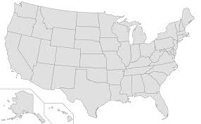 United States Map States by Usa Outline Clipart Png Collection