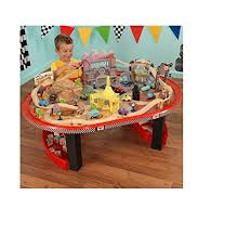 matchbox car play table amazon com kidkraft disney cars radiator springs race track set and
