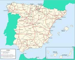 Eurail Map Spain Rail Map Imsa Kolese