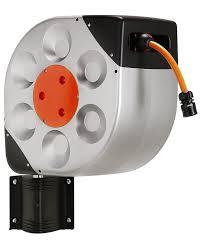 water hose reel wall mount claber 8990 automatic rotoroll wall mount swivel garden hose reel