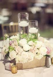 Wedding Centerpieces Floating Candles And Flowers by White Flower Floating Candle Wedding Reception Centerpiece