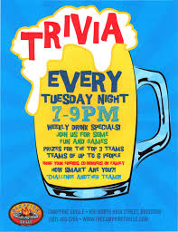 tuesday night trivia 8pm campfire grille bridgton maine