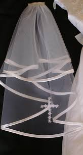 holy communion veils holy communion veil satin edge with lacecross white or