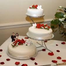 three tier wedding cake stand wedding corners