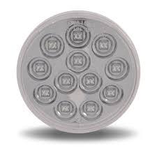 4 led lights mirror circle 4 white back up led mirror light 12 diodes 4 round leds