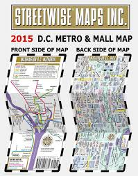 Washington Subway Map by Streetwise Washington Dc Metro Map Laminated Washington Dc