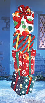 lighted gift boxes christmas decorations stackable lighted gift box presents festive outdoor yard christmas