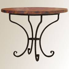copper dining room tables arabesque copper table 42