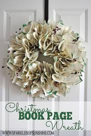 christmas book page wreath holiday wreaths wreaths and decorating