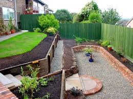 Backyard Ideas For Sloping Yards Triyae Com U003d Terracing A Steep Backyard Various Design
