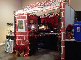 christmas cabin for u0027best decorated cubicle contest u0027 at my buddy u0027s