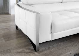 Modern White Leather Sectional Sofa by Divani Casa Arles Modern White Leather Sectional Sofa