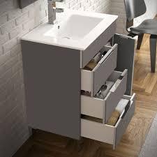 eviva geminis 28 grey modern bathroom vanity with white