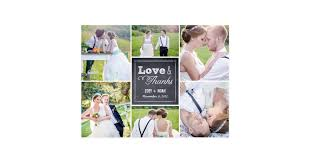 chalked collage wedding thank you card zazzle