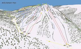 Montana Ski Resorts Map by The Mountain