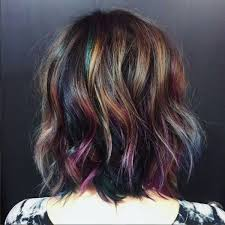 layered rainbow shots underlights are the secret rainbow hair trend you can get away