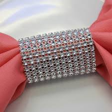 spandex chair sashes dazzling diamond rhinestone chair sash slip napkin rings silver