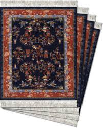 Arabesque Rugs Floral Arabesque 4 Pc Coasterrug Set Mouserug