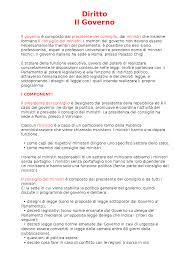 ultimo consiglio dei ministri il governo diritto riassunto per tesina docsity