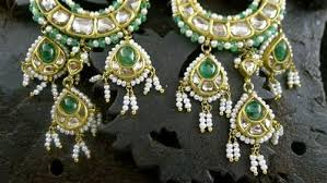 and pearl chandelier amrapali 18k yellow gold moghul diamond emerald and pearl
