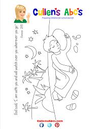bible memory verse coloring page jacob u0027s dream online