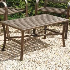 Garden Coffee Table Garden Tables Picnic Benches Outdoor Tables Wayfair Co Uk