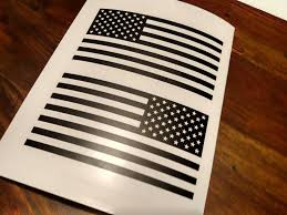 jeep american flag decal set of jeep wrangler american flag decals 3m matte black