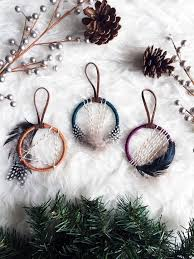 boho christmas ornament set mini dream catcher ornaments