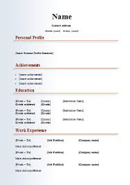 new resume format free cv templates 18 free word downloads cv writing tips cv plaza