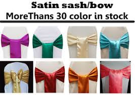 satin chair covers 150 satin sash bow chair covers sashes bows tie for wedding party