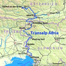 Alps On A Map Transalp Trekking Adria Von Spittal Drau Nach Sistana Adria