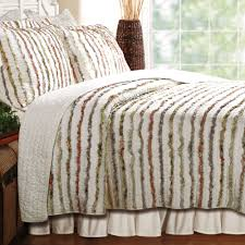 cotton ruffle quilt bedding set