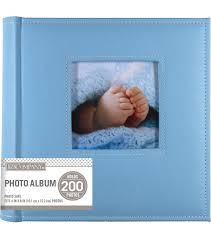 faux leather photo albums k company light blue faux leather stitched 2 up memo photo album