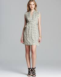 french connection dress tropicana daisy jersey in natural lyst