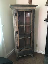 reclaimed wood curio cabinet buy a custom rustic curio cabinet with reclaimed antique window door