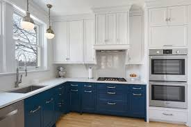 Two Color Kitchen Cabinet Ideas Two Color Kitchen Cabinets Zhis Me