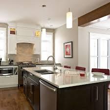 cuisine fonctionnelle plan ilot de cuisine fonctionnel avec evier en sous plan et lave