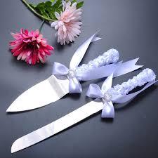 wedding cake knife and server set wedding cake serving set white flower design cake knife and server
