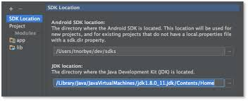 android developer kit mac osx jdk selection android studio project site