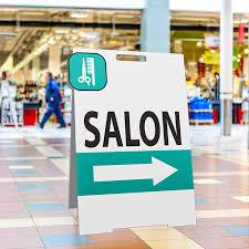 salon sidewalk signs template or custom design one today
