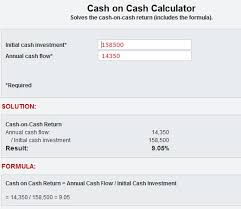 how to calculate cash on cash return the method and formula