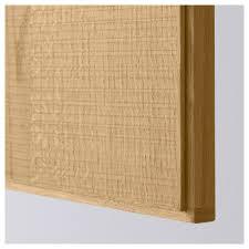 Solid Wood Replacement Kitchen Cabinet Doors Hyttan Door Oak Veneer 60x80 Cm Ikea