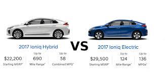 2017 hyundai ioniq hybrid vs electric push evs