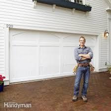 Overhead Door Store How To Install A Garage Door Family Handyman