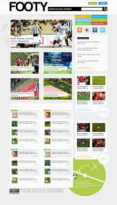 web layout grid template design a clean sports web layout in magazine style with photoshop