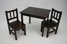 amazon com ehemco kids table and 2 chairs set solid hard wood