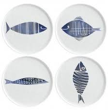 Nautical Themed Dinnerware Sets - ceramic fish plates foter